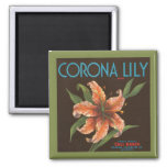 Vintage Corona Lily Brand Magnet