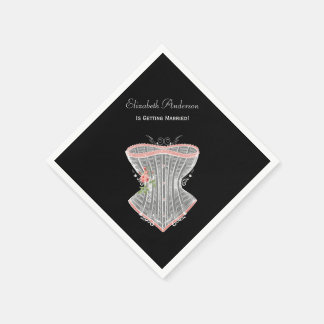 Vintage Corset Personal Lingerie Bridal Shower Paper Napkin