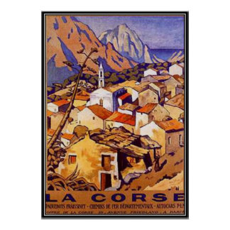 Vintage Corsica, France - Poster
