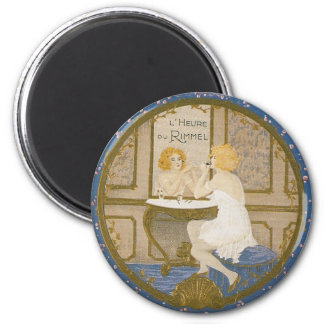 Vintage Cosmetic Ad 6 Cm Round Magnet
