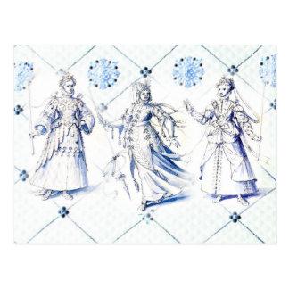 Vintage Costume Drawings, 16th Century Postcard