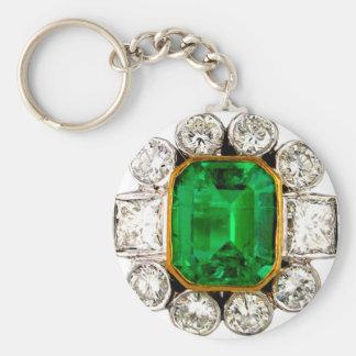 Vintage Costume Jewelry Rhinestones Diamonds Key Ring