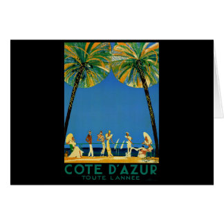 Vintage Cote D Azur French Travel Cards