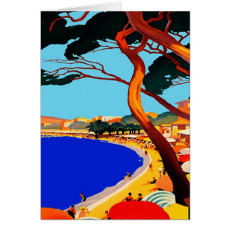 Vintage Cote D Azur French Travel Greeting Cards