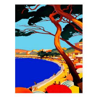 Vintage Cote D Azur French Travel Postcard Postcard