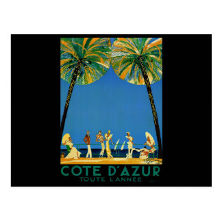 Vintage Cote D Azur French Travel Postcards