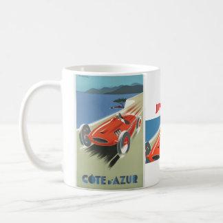 Vintage Cote d Azur Race Basic White Mug