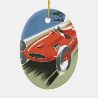 Vintage Cote d Azur Race Ceramic Oval Decoration