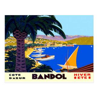 Vintage Cote D'Azur French Beach Travel Postcard