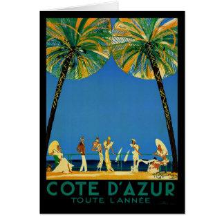 Vintage Cote D'Azur French Travel Card