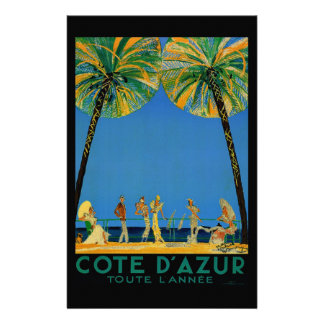 Vintage Cote D'Azur French Travel Customized Stationery