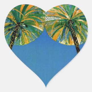 Vintage Cote D'Azur French Travel Heart Sticker