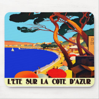 Vintage Cote D'Azur French Travel Mouse Mat