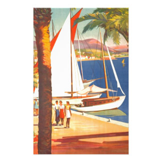 Vintage Cote D'Azur French Travel Personalized Stationery