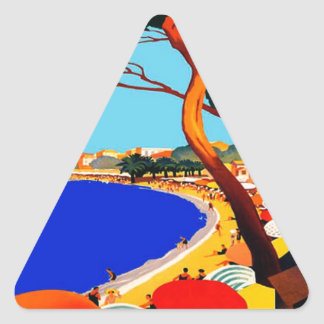 Vintage Cote D'Azur French Travel Triangle Sticker