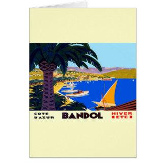 Vintage Cote D'Azur Travel Card