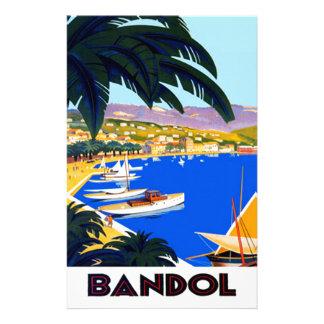 Vintage Cote D'Azur Travel Personalized Stationery