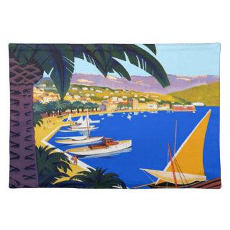Vintage Cote D'Azur Travel Placemat