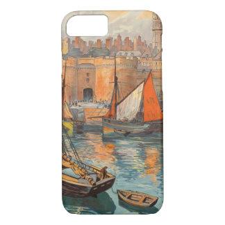 Vintage Cote d'Emeraude Saint Malo Port Tourism iPhone 7 Case