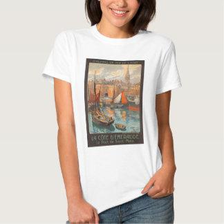 Vintage Cote d'Emeraude Saint Malo Port Tourism T-shirt