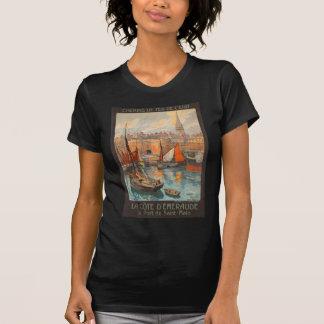 Vintage Cote d'Emeraude Saint Malo Port Tourism T Shirts