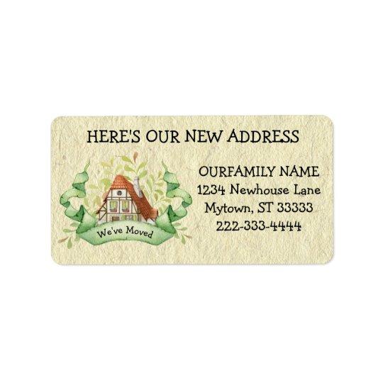 Vintage Cottage Change of Address Label