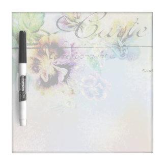 Vintage cottage pansy flower postcard Dry-Erase board