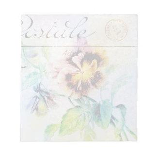 Vintage cottage pansy flower postcard note pads