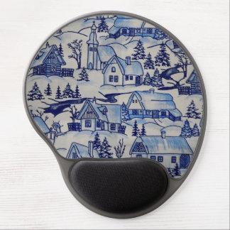 Vintage Cottage Winter Holiday Design Gel Mouse Mat
