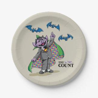 Vintage Count von Count Paper Plate