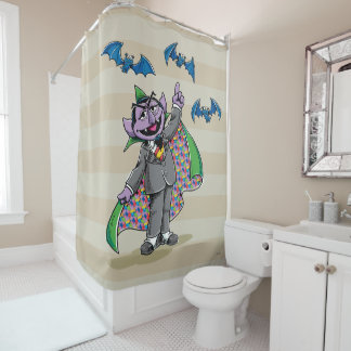 Vintage Count von Count Shower Curtain
