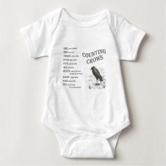 Vintage Counting Crow Rhyme Baby Tee Shirt