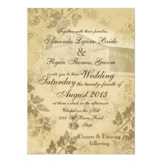 Vintage Country Barn Wedding 14 Cm X 19 Cm Invitation Card