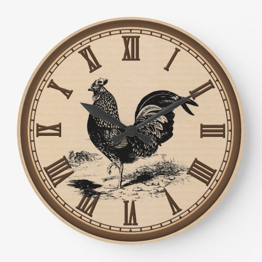 Vintage Country Chicken Home kitchen wall clock