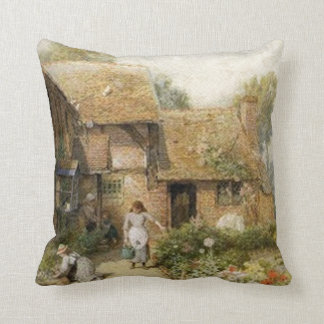 Vintage Country Cottage ~ Chores Pillow