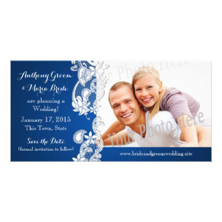 Vintage Country Floral Design Save the Date Photo Photo Cards