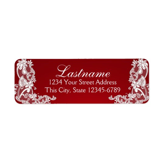 Vintage Country Floral Lace Red