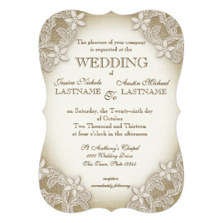 Vintage Country Gala Wedding Personalized Invites