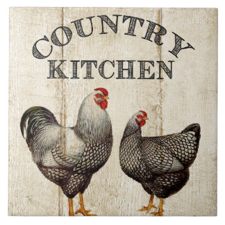 Vintage Country kitchen Rooster tile