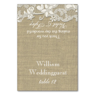 Vintage Country Lace Design Seating Card Table Cards