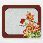 Vintage country look floral mouse pad