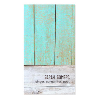 Vintage Country Nature Rustic Turquoise Wood Pack Of Standard Business Cards