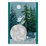 Vintage Country Snow Scene Antique Christmas Card