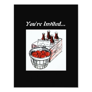Vintage Country Store Produce Artwork 11 Cm X 14 Cm Invitation Card