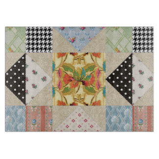 Vintage Country Style Evening Star Quilt Pattern Cutting Board