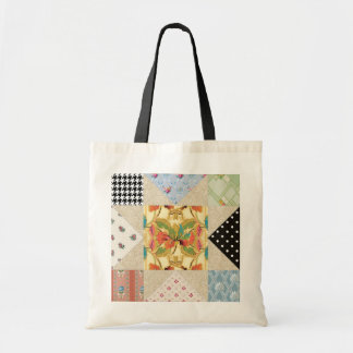 Vintage Country Style Evening Star Quilt Pattern Tote Bag
