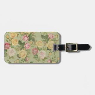 Vintage Country Weathered Floral Bag Tag