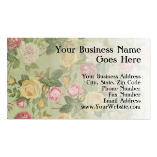 Vintage Country Weathered Floral Business Cards