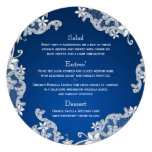 Vintage Country White Lace Round Menu Announcements