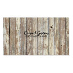 vintage country wood grain construction business pack of standard business cards